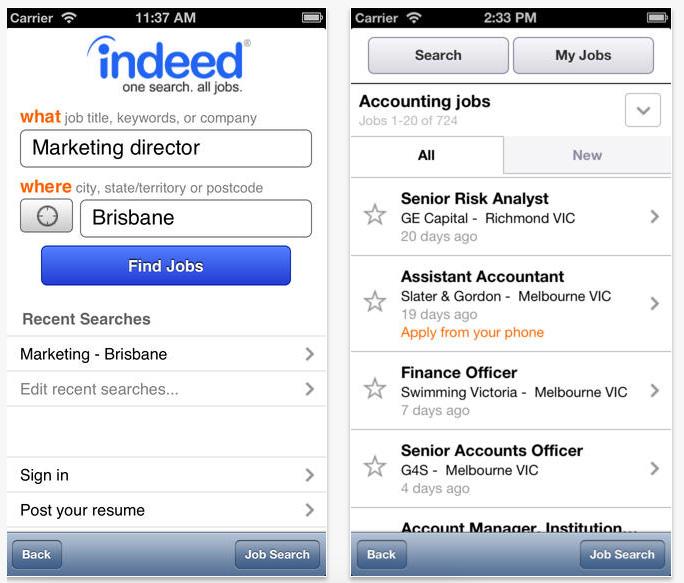 major job boards