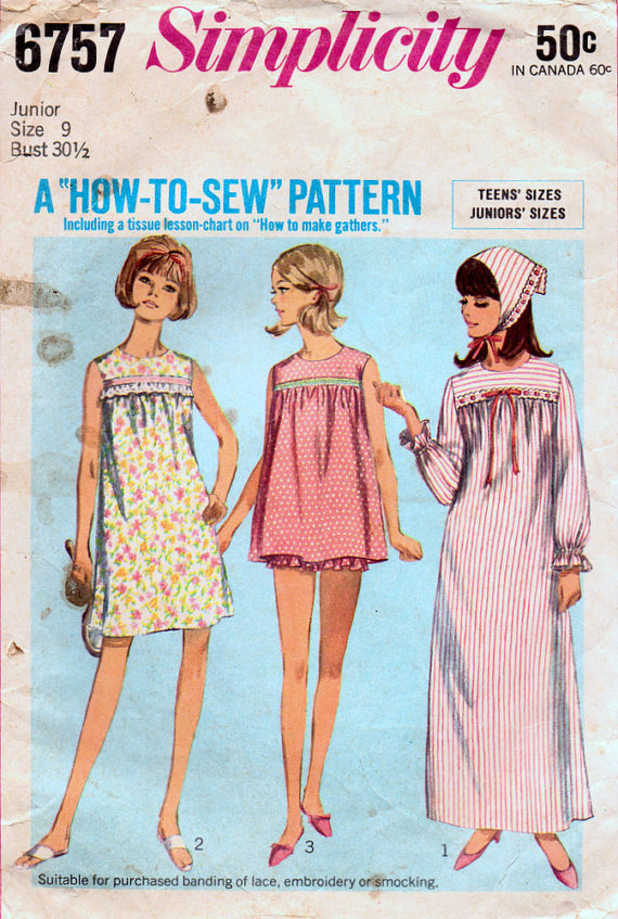 The sewing patterns from the \'60s and \'70s that mum made - Starts at 60
