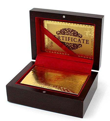 Gold Plated Playing Cards With Box And Certificate