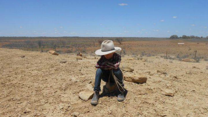 boy in drought