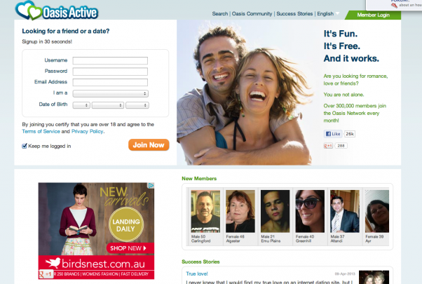 Oasis active dating site review