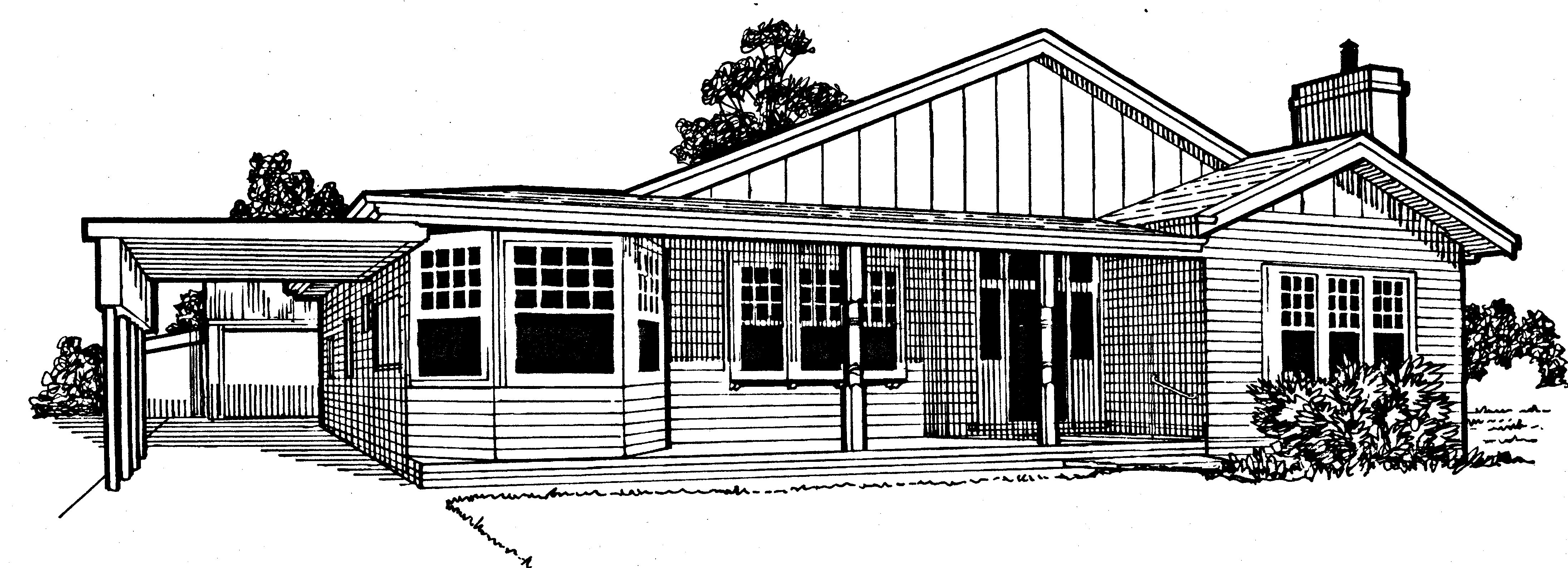 House drawing black for Free house drawing
