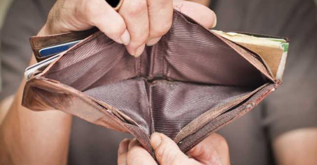 Pensioner no money