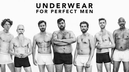 This underwear campaign addresses body image… for blokes