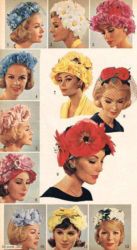 3b051653518 The 60s and 70s were known for the fabulous hats we used to wear! - Starts  at 60