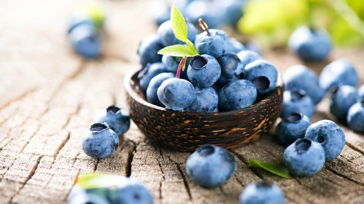 Fruit and vegetables, such as blueberries will turn icy in the freezer. Source: Getty