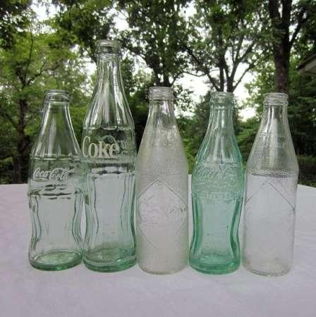 nost glass coke bottles