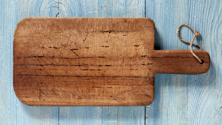 how to clean an old cutting board