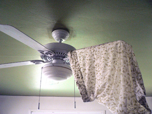 ceiling fan with pillowcase