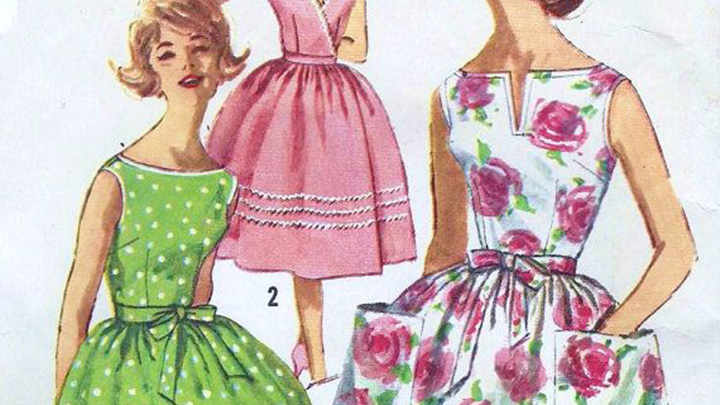 the sewing patterns we remember from the 60s and 70s starts at 60
