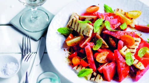 Watermelon and Haloumi
