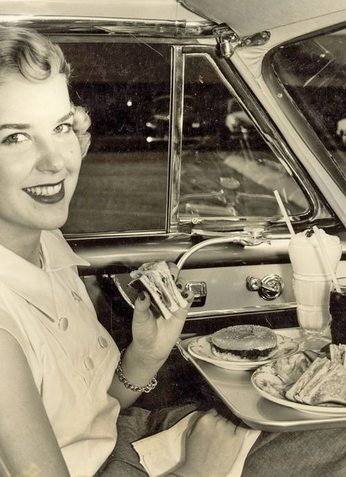 dinner at drive in
