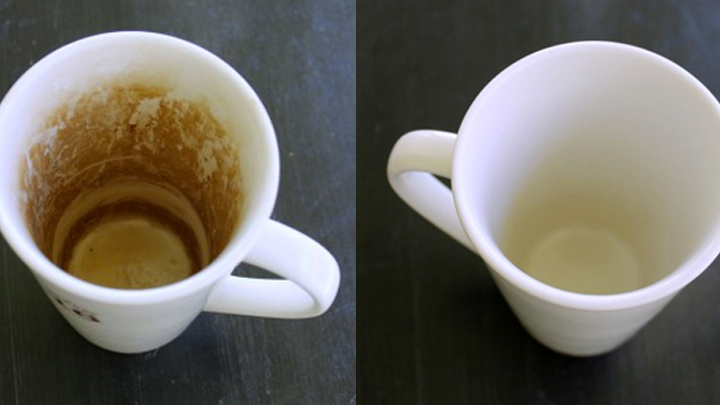 life hack the easiest way to remove coffee stains from mugs starts at 60. Black Bedroom Furniture Sets. Home Design Ideas