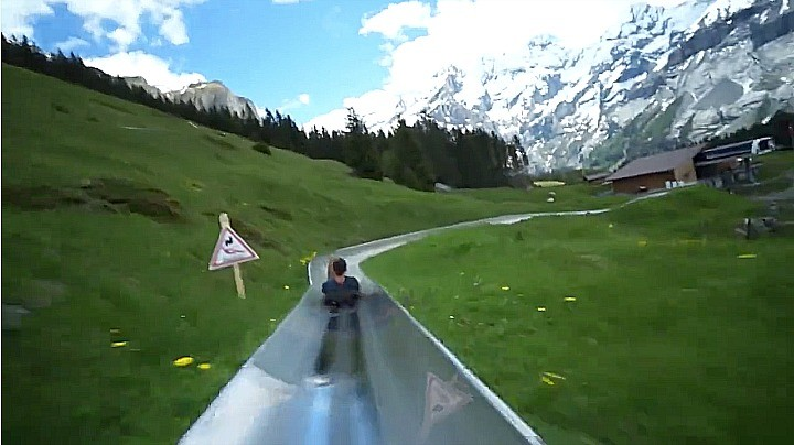 you can slip and slide your way down switzerland s best kept secret