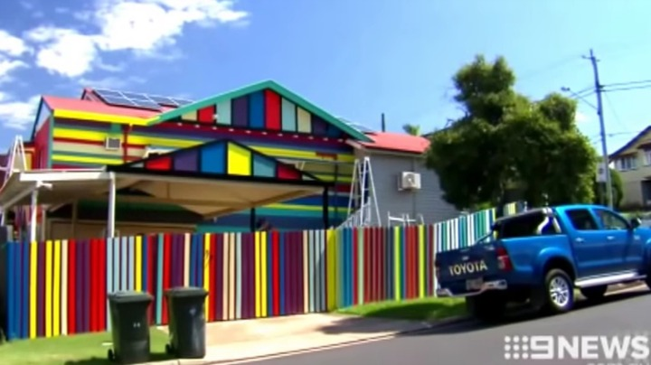 Jenny's brightly coloured house in Brisbane.
