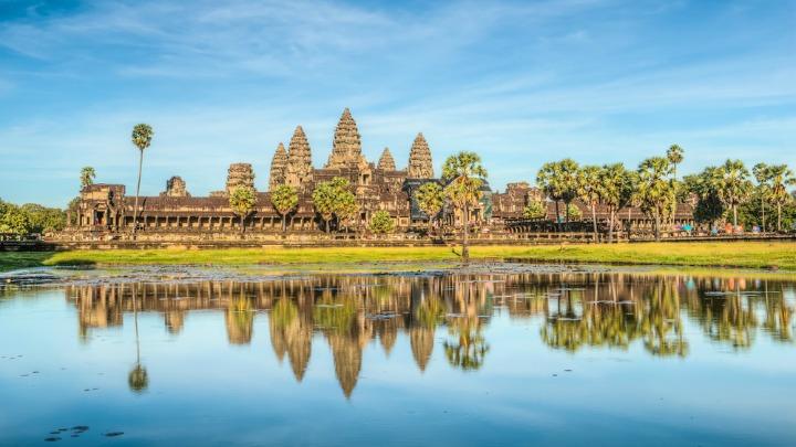 The stunning architecture at Siem Reap is a major drawcard for tourists.