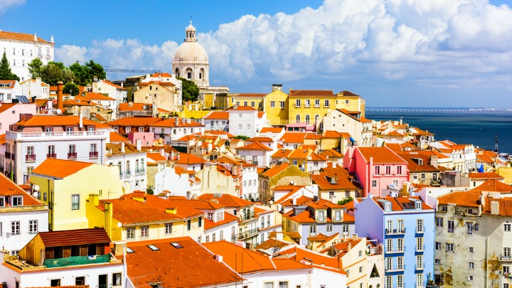 Lisbon is full of vibrant colour.