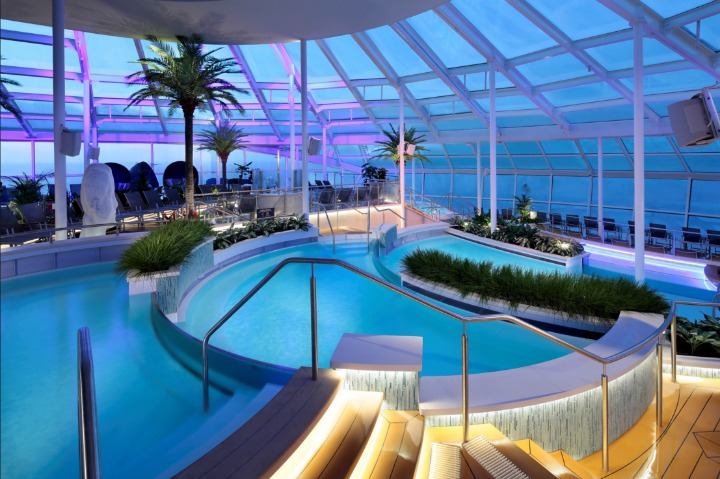 Take a dip in one of the many pools onboard.