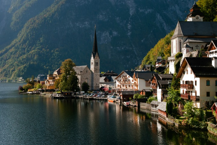 Wander around the quaint towns in the Austrian Alps.