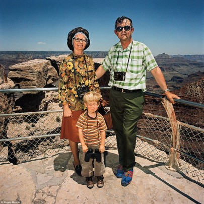 A family at South Rim, Grand Canyon National Park, Arizon in 1980. Photo copyright Roger Minick