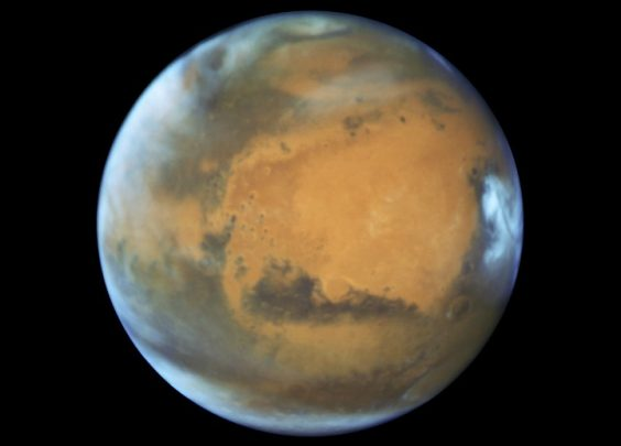 Check out Mars as photographed by NASA's Hubble Space Telescope.
