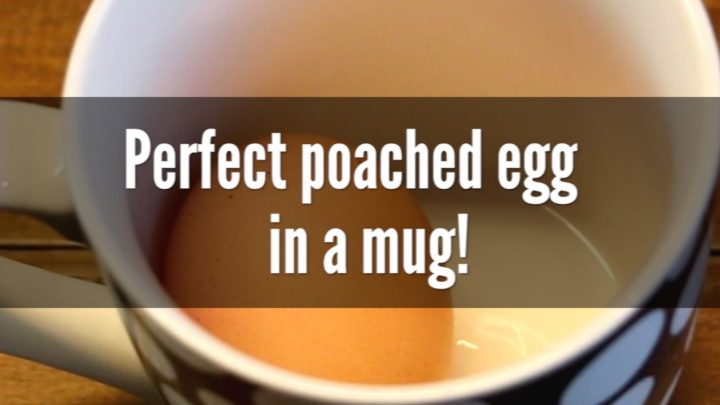Perfect poached egg in a mug