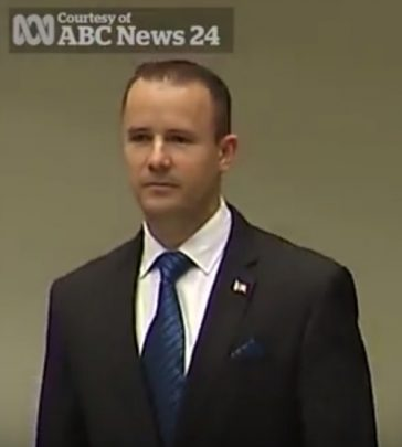Nathan Barrett resigns after sex video scandal emerges. Photo: YouTube (Viral Video).