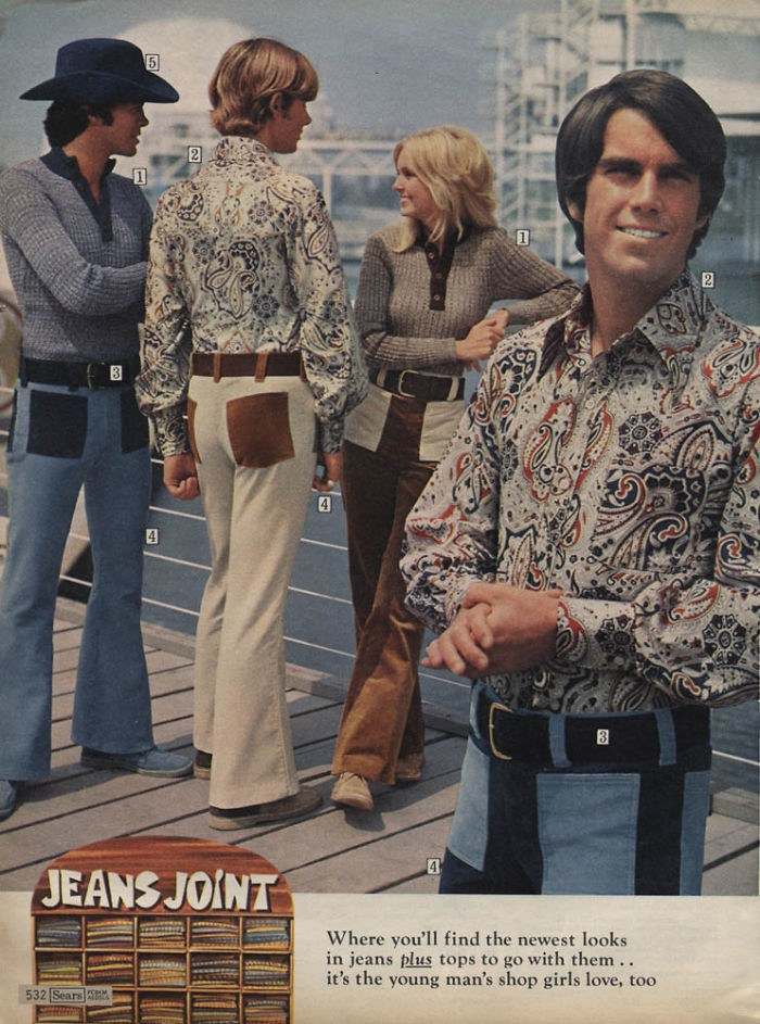 70s fashion square pockets