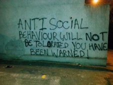 We're pretty sure grafitti is anti-social behaviour.