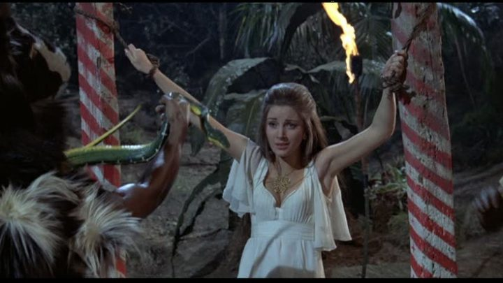 Jane Seymour is the damsel in distress in Live and Let Die.