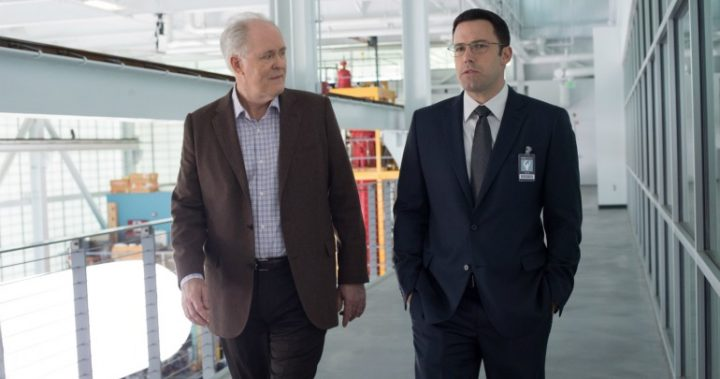 John Lithgow and Ben Affleck in a scene from The Accountant.