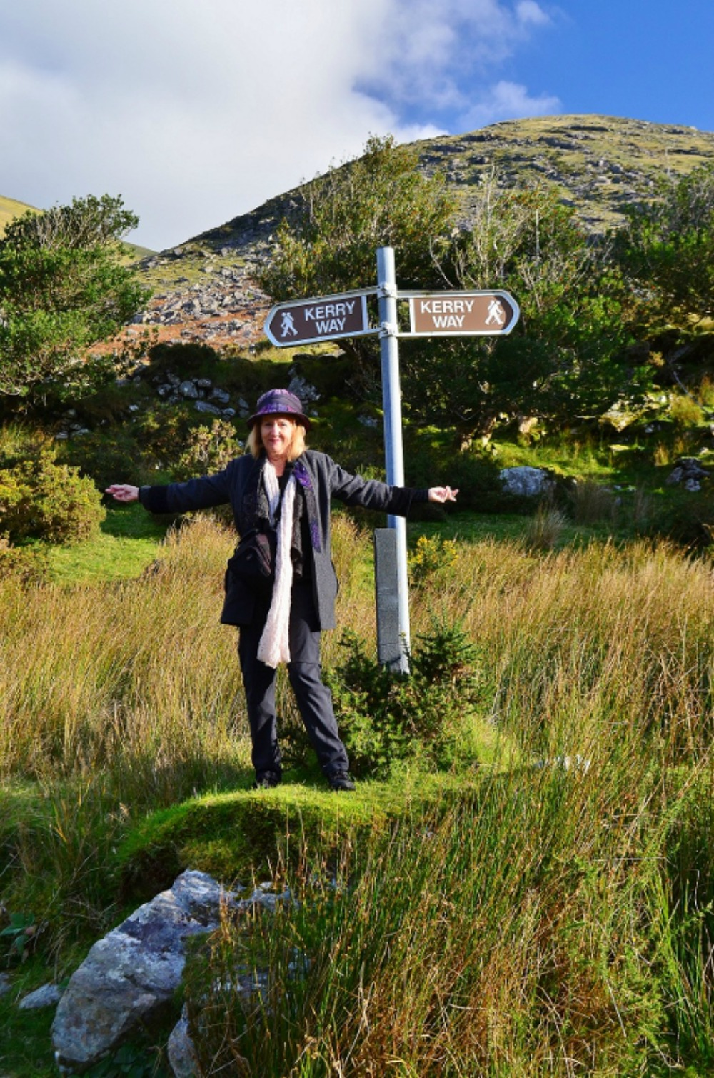 Taking a walk along the Kerry Way. Photo courtesy Lorraine Parker.