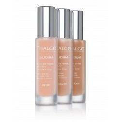 Thalgo Silicium Anti-Ageing Foundation 30ml. Colours from left to right: Opale, Natural or Ombre