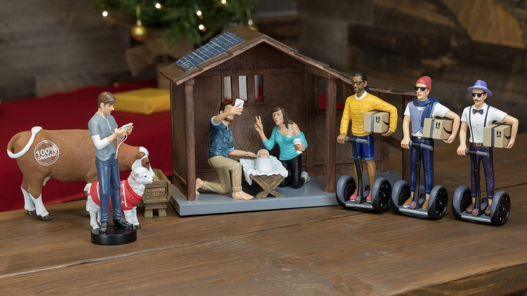 A lot has changed in 2,000 years... Photo Modern Nativity.