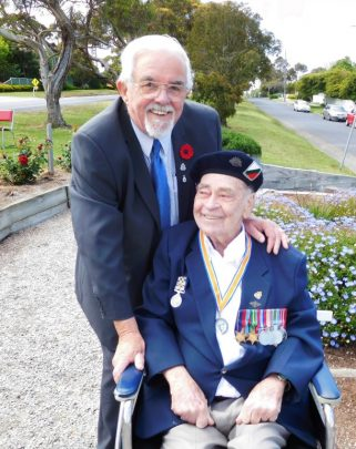 Brian Lee attended the local RSL's Remembrance Day ceremony. Photo courtesy Brian Lee.