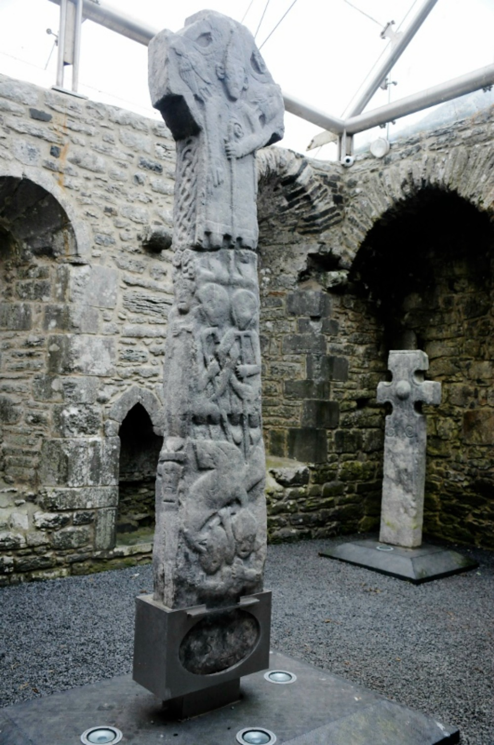 A monumental slab had been lying near Doortys grave since 1752, a cross head was also present in the sacristy at Kilfenora.Photo courtesy Ian Smith.