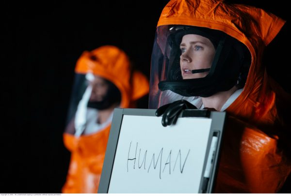 Amy Adams plays linguist Dr Louise Banks in the film Arrival.