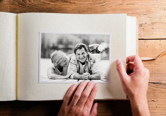 A photo album can be a great talking point.