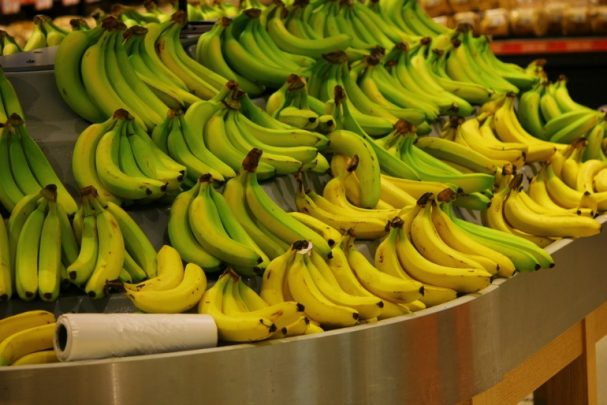 Bananas are not always ripe when you buy them.