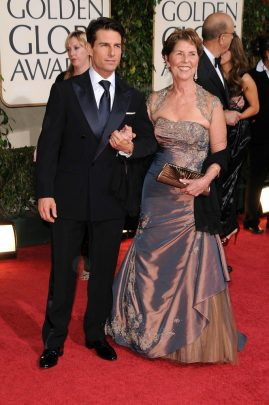 Tom Cruise with his mother Mary Lee Mapother at the 66th Annual Golden Globe Awards on 2009.