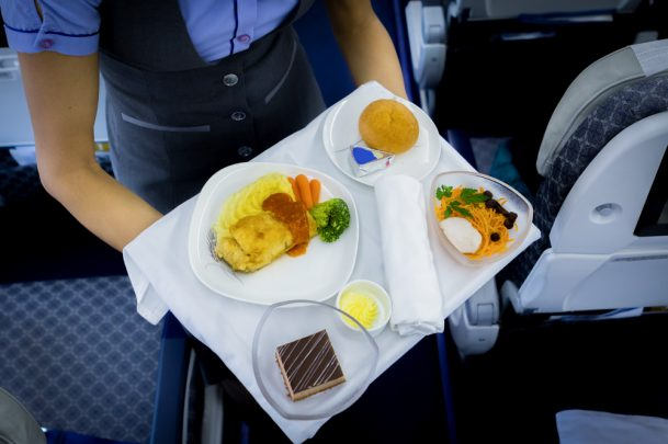 Receive your meal first on a flight