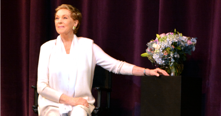 Julie Andrews shows why she's still a fair lady
