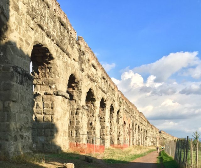 Park of the Aqueducts along the Appian Way.