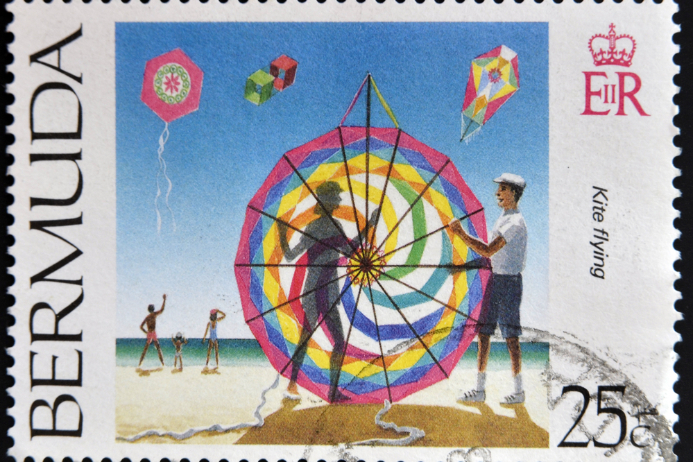 A stamp depicting the kites of Bermuda