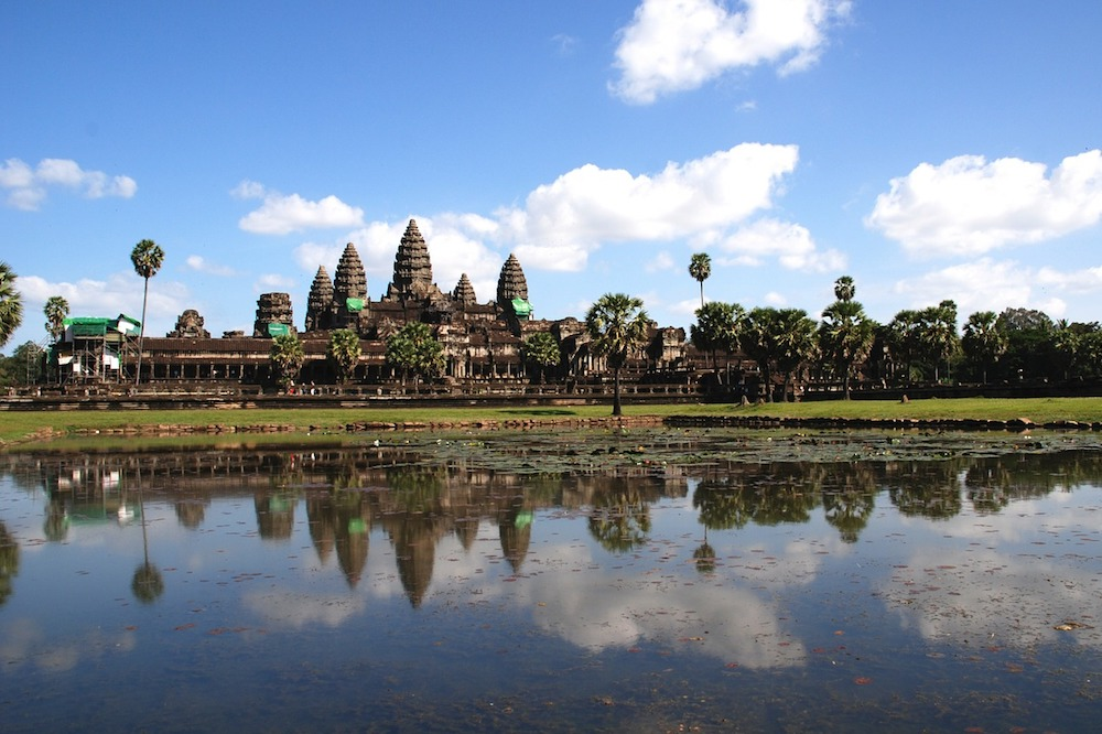 The world's largest religious site, Angkor Wat, is a UNESCO-protected site