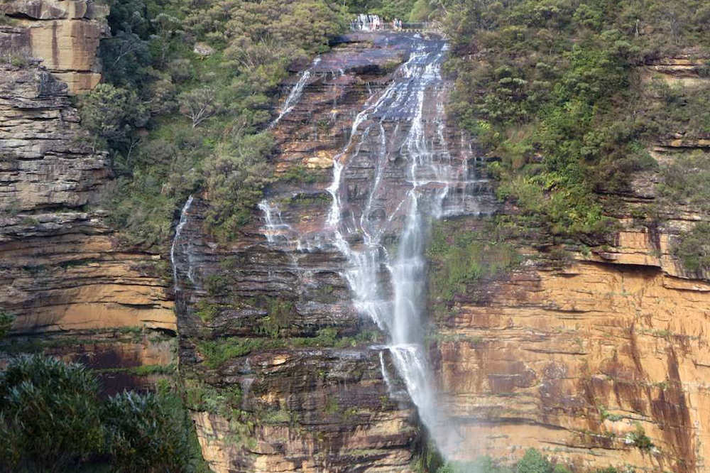 The view of Wentworth Falls from Fletchers Lookout. Image: David Stanley – Flickr