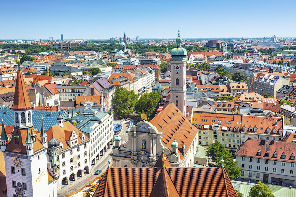 Munich is packed with beautiful buildings and gardens