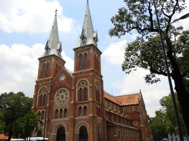 Notre Dame Cathedral Basilica of Saigon in Paris Square