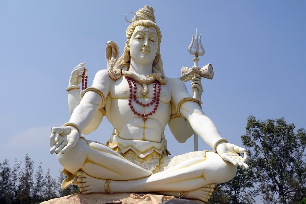 A statue dedicated to the Hindu Lord Shiva
