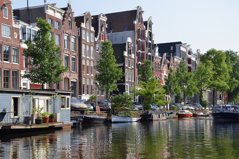 The beautiful canals of Amsterdam